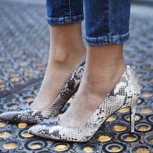 Snakeprint Heels
